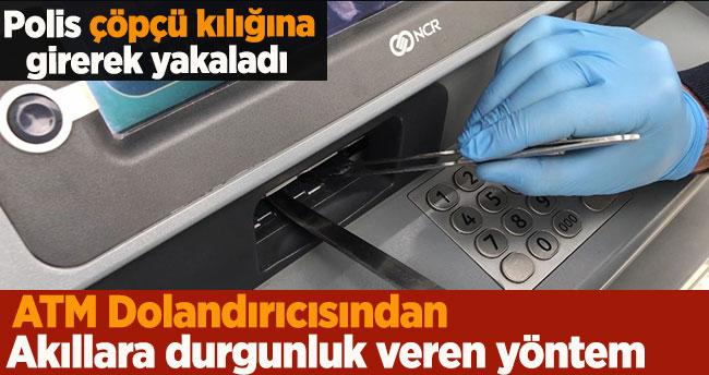 ATM dolandırıcısından akıllara durgunluk veren 'cımbız' yöntemi