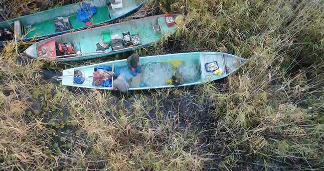 Beyşehir Gölü'nde drone ile nefes kesen kaçak avcı operasyonu