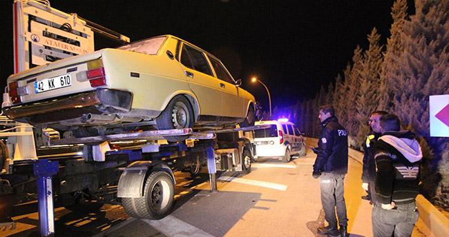 Konya'da drift yaparken yakalanan sürücünün arkadaşı gözyaşlarına hakim olamadı