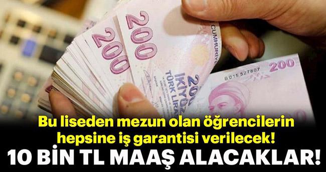 Bu lisenin mezunlarına 10 bin liraya kadar maaş imkanı! – Listede Konya'da var!