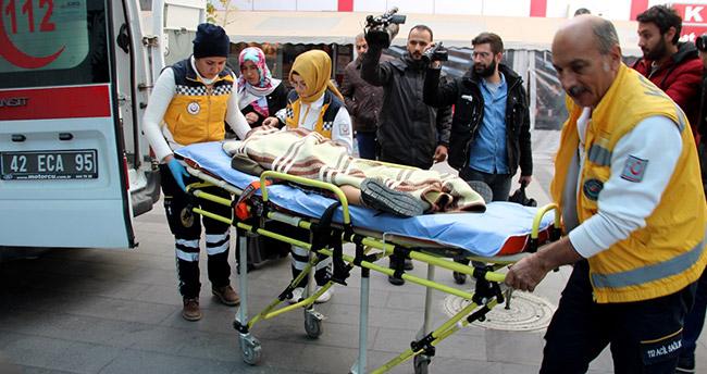 Konya'da kardeşler arasında çıkan kavgada kardeşin fırlattığı bıçak sırtına saplandı