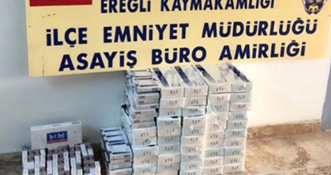 Ereğli'de kaçak sigara ele geçirildi