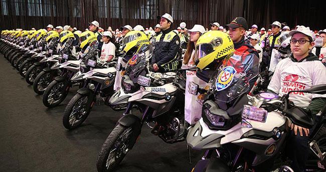 Emniyet ve jandarmaya 284 motosiklet tahsis edildi