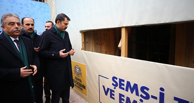 Bakan Kurum, Şemsi Tebrizi Türbesi'ni ziyaret etti