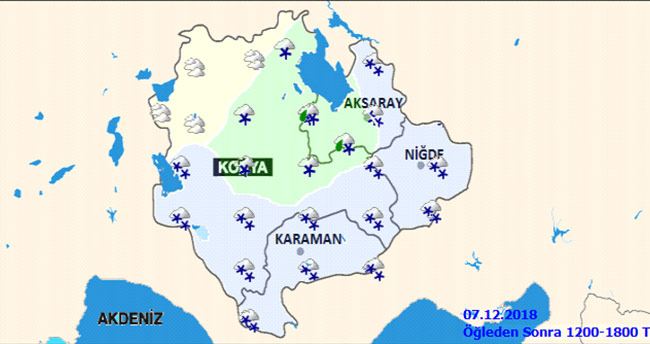 Konya'ya yoğun kar uyarısı!