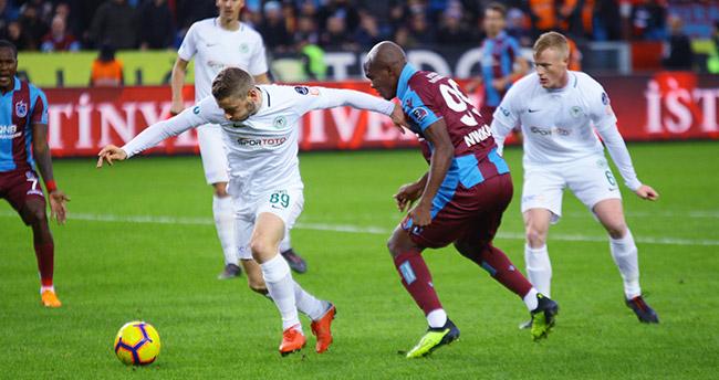 Atiker Konyaspor Trabzon'da kaybetti