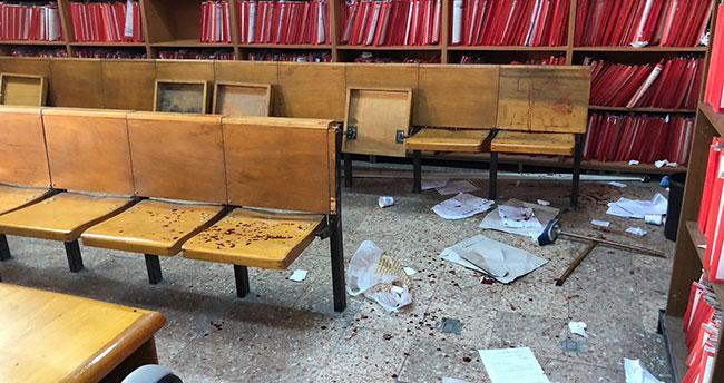 Duruşma salonu kan gölüne döndü: 8 yaralı