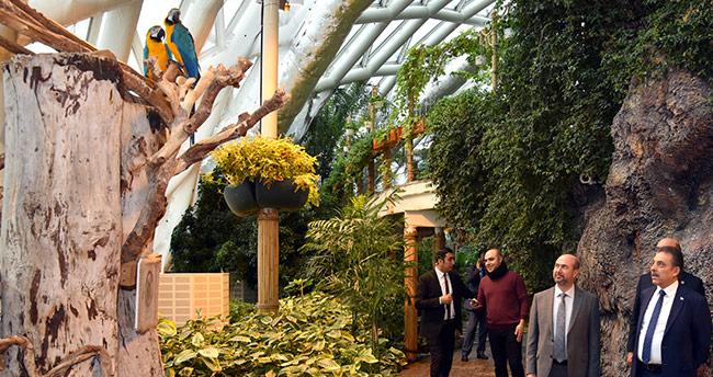 Konya Valisi'nden Tropikal Kelebek Bahçesi'ne ziyaret