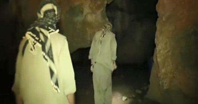 Mağarada Kıstırılan PKK'lıların Görüntüleri Ortaya Çıktı