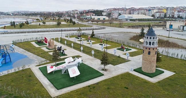 Beyşehir'de Türk Büyüğü, Halk ve Masal Kahramanları Parkı tamamlandı