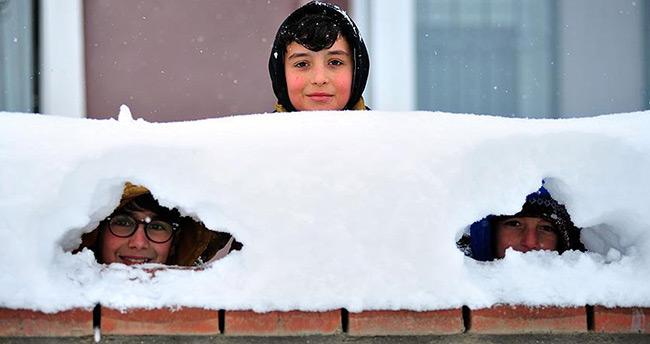 Konya'nın bazı ilçelerinde eğitime kar engeli