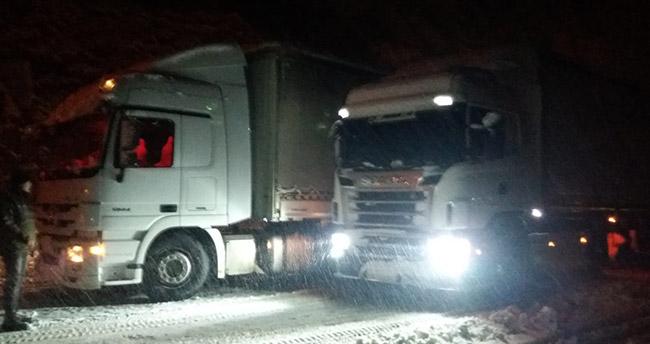 Konya'da ulaşıma kar engeli