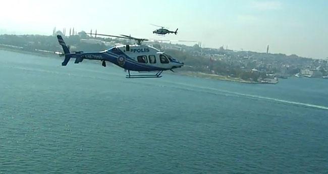 Polis helikopterleri bin 340 saat havada kaldı