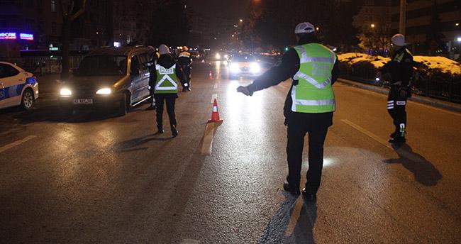 Konya'da yılbaşı gecesi 117 alkollü sürücüye ceza kesildi