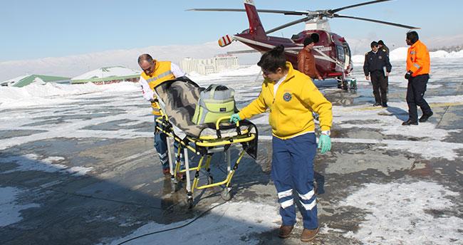 Ambulans helikopter 146 kez havalanarak Türkiye birincisi oldu