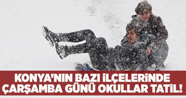 Konya'nın bazı ilçelerinde 9 Ocak Çarşamba günü okullar tatil!