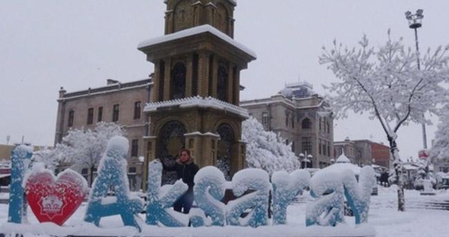 Aksaray'da eğitime kar engeli – 9 Ocak Aksaray kar tatili