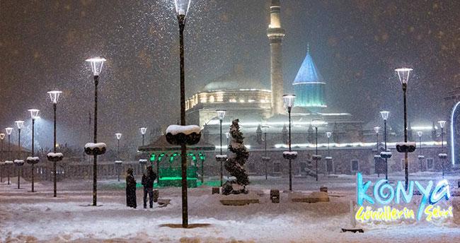Meteoroloji Konya'yı uyardı – Kar yağışı devam edecek!