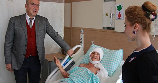 Köpeklerin saldırdığı kadının tedavisi Konya'da sürüyor