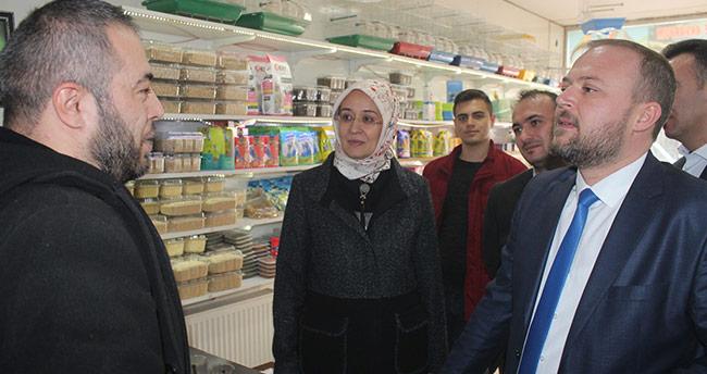 Gülay Samancı Beyşehir'de esnafı ziyaret etti