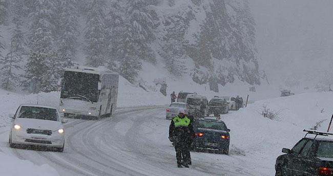 Konya'nın güneyine yoğun kar uyarısı