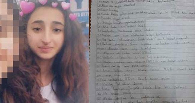 'Mavi Balina' kurbanı küçük kızın defterinde yazanlar dehşete düşürdü