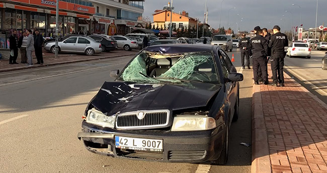 Konya'da otomobilin çarptığı yaya öldü