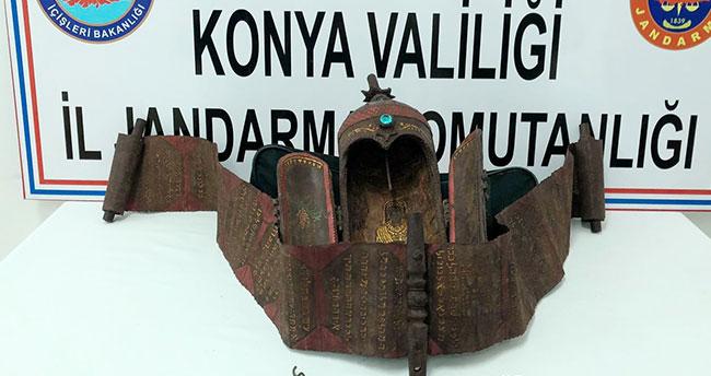Konya'da 'Bereket Tanrısı' figürlü tarihi eser ele geçirildi