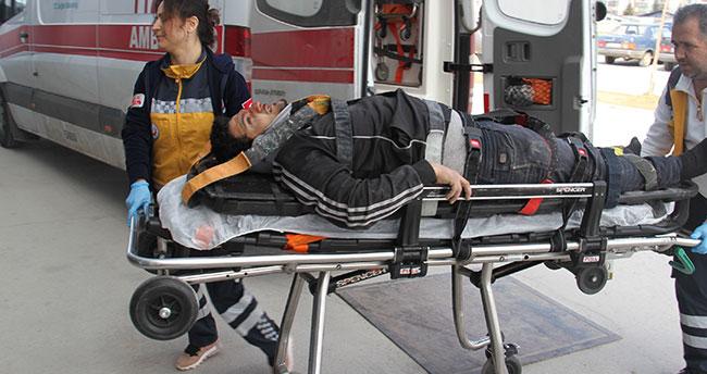 Konya'da pencere takarken inşaatten düşen Suriyeli yaralandı