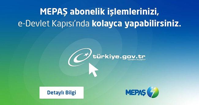 MEPAŞ, e-devlet kapısında abonelik işlemlerini başlattı
