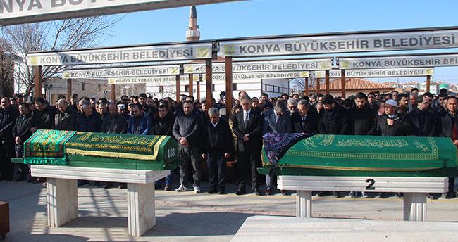 Konya'da kazada ölen doktor çift toprağa verildi