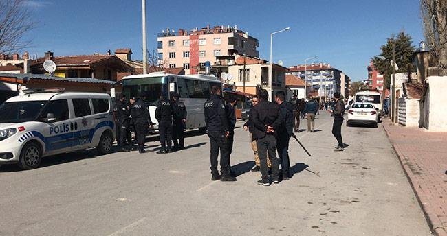 Konya'da taşlı kavga: 8 gözaltı