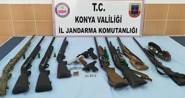 Konya'da ruhtsatısz silah satıcılarına operasyon