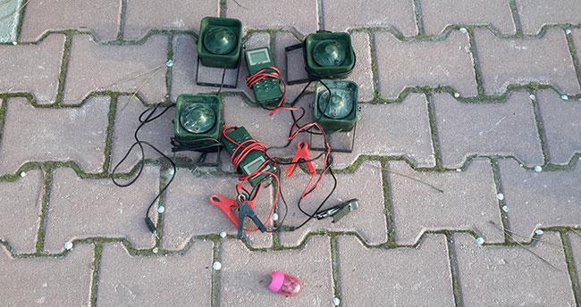 Konya'da araçta avda kullanılması yasak ses cihazları ele geçirildi