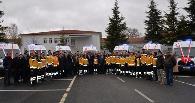 Konya'dan 7 ambulans ilçelere gönderildi