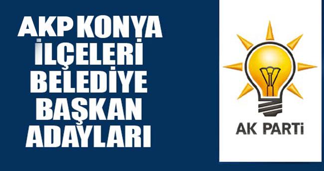 AK Parti Konya Belediye başkan adayları! 31 Mart seçimi