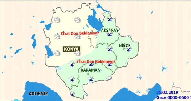 Konya'da zirai dona dikkat! Konya'da hava durumu