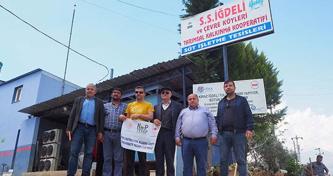 Bozkır kooperatiflerinden İzmir'de tarımsal inceleme