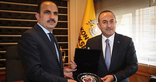 Mevlüt Çavuşoğlu Konya Büyükşehir Belediyesi'ni ziyaret etti