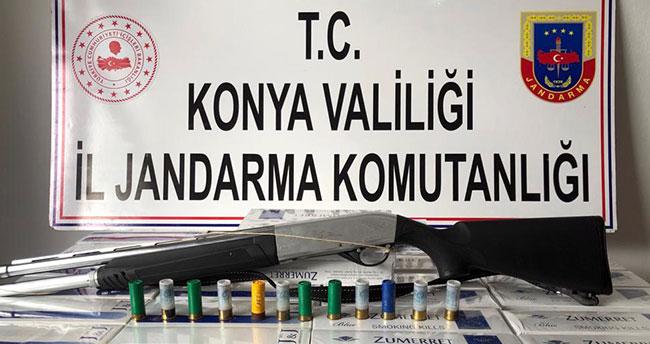Konya'da 1160 paket kaçak sigara ele geçirildi