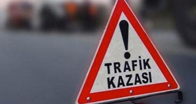 Konya'da otomobil dağa çarptı: 2 yaralı