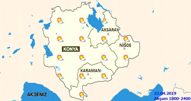 Konya'da sıcaklıklar artıyor! 23 Nisan Konya hava durumu