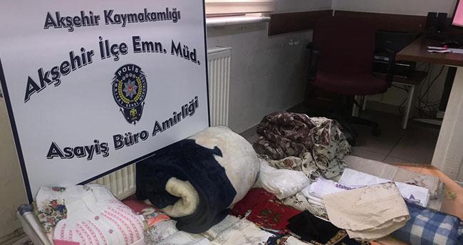 Akşehir'de hırsızlık şüphelisi yakalandı