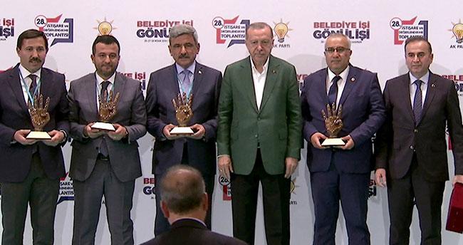 Cumhurbaşkanı Erdoğan'dan Başkan Kılca'ya ödül