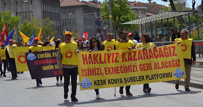 Konya'da 1 Mayıs kutlamaları