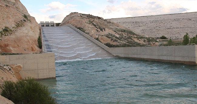 Karaman'da baraj ve göletler doldu, taştı