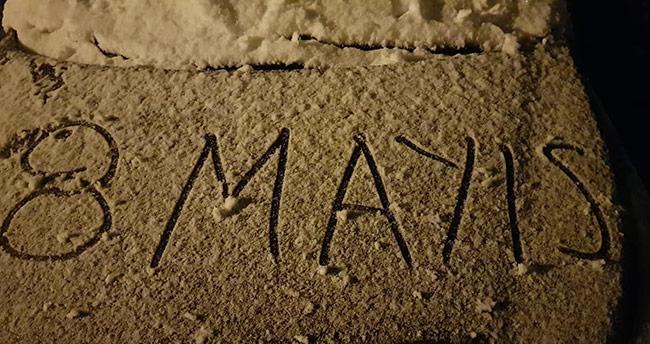 Konya'nın bazı ilçelerine Mayıs'ta kar sürprizi