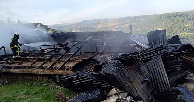 Karaman'da evde çıkan yangın tüm eşyaları kül etti