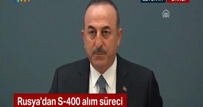 Bakan Çavuşoğlu'ndan S-400 ve F-35 açıklaması