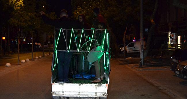 Konya'da davulcuya DJ de eşlik etti